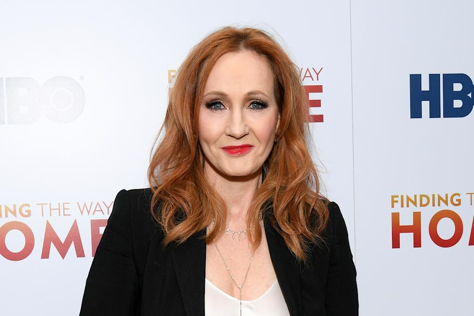 "NEW YORK, NEW YORK - DECEMBER 11: J.K. Rowling attends HBO's ""Finding The Way Home"" World Premiere at Hudson Yards on December 11, 2019 in New York City. (Photo by Dia Dipasupil/Getty Images)"