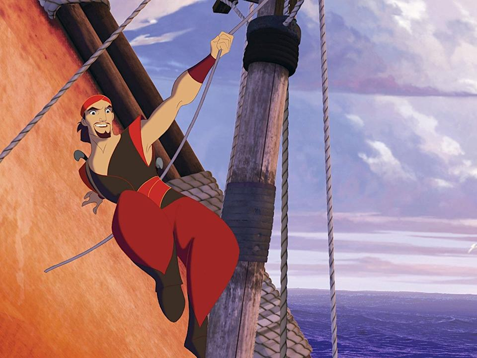 Brad Pitt voiced legendary pirate Sinbad.