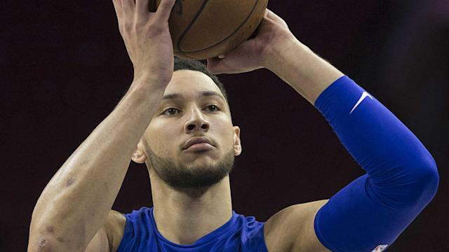 Ben Simmons, a left-handed shooter, threw a beautiful first pitch with his right hand before a Blue Jays-Phillies game at Citizens Bank Park.