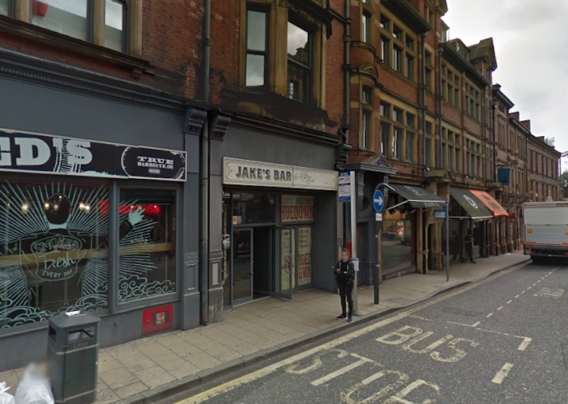 The gay couple say they were refused entry to Jake's Bar in Leeds (Picture: Google)