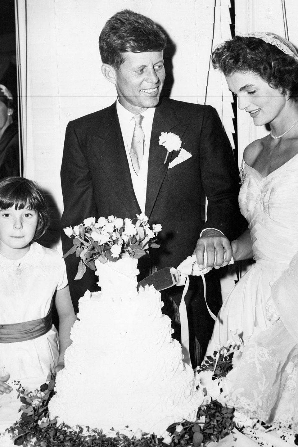 <p>The cake was from Plourdes Bakery in Fall River, Massachusetts. John learned about the bakery while campaigning for Senate in 1952. </p>