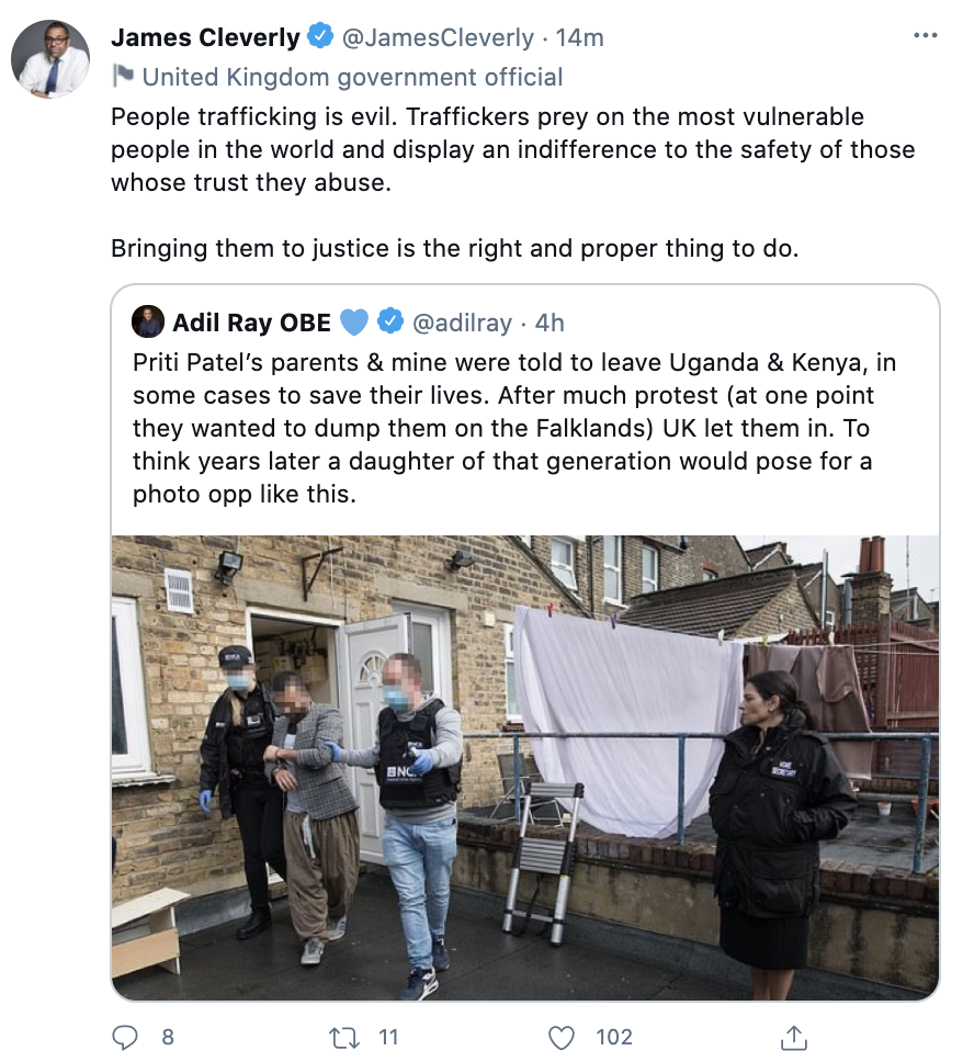 Several Tory MPs criticised Adil Ray's post as misleading. (Twitter)