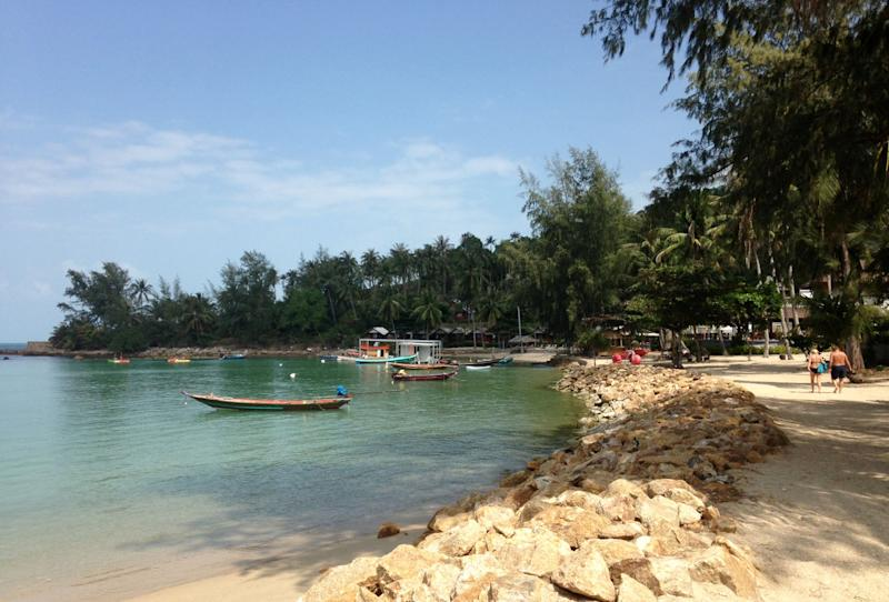 This 2014 photo shows Koh Ma, off Koh Phangan, Thailand. Thailand's beaches and islands are beautiful and relaxing, with a vibrant party scene, and make an exotic alternative to more traditional spring break destinations for adventurous travelers. (AP Photo/Mairead Flynn)