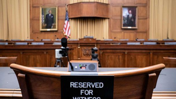 PHOTO: The witness chair in the House Judiciary Committee is expected to be without former White House Counsel Don McGahn, who was a key figure in special counsel Robert Mueller's investigation, on Capitol Hill in Washington, May 21, 2019. (J. Scott Applewhite/AP)