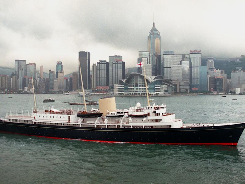 The royal yacht Britannia in Hong Kong before it was decommissioned in 1997: AFP/Getty Images