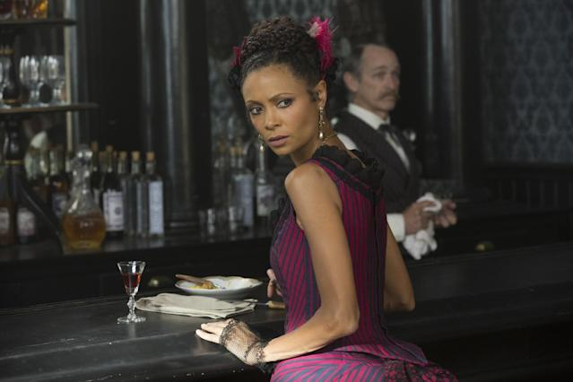 "<p><strong>On the scene when Maeve ""wakes up"" in the Westworld lab and witnesses the way the hosts are treated there:</strong> ""That was originally going to be in the pilot, but they decided that it was such a powerful set-piece that they could let it breathe and allow it to really take center stage in the second episode. I was thrilled about that. It was the first time that I was playing the nudity, which is a very powerful and important part of the season, to see these characters stripped naked. Because it was my first time doing that, all that fear and vulnerability I was feeling as Thandie the actress was really feeding beautifully into the fear experienced by the character. I became a lot more comfortable with being naked as the series progressed, but in the pilot it was very challenging. … It's a nightmare-scape, because nothing makes sense. She's seeing horrific images of bodies and carcasses of meat just being dumped on the ground. And she's naked. She's in a completely opposite scenario to Maeve in the saloon, where she takes command and is very self-assured. Suddenly, she's inside this nightmare, and it's the worst thing imaginable, to wake up in this alien world where you're being treated with appalling depravity. I didn't have to think about much other than what I was seeing and doing.""<br><a href=""https://www.yahoo.com/tv/emmys-westworld-star-thandie-newton-embodying-daring-vicious-maeve-185412752.html"" data-ylk=""slk:Read the full interview.;outcm:mb_qualified_link;_E:mb_qualified_link"" class=""link rapid-noclick-resp newsroom-embed-article"">Read the full interview.</a><br><br>(Credit: HBO) </p>"