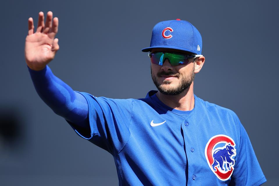 Cubs third baseman Kris Bryant started a triple play Wednesday night... or did he? (Getty Images)