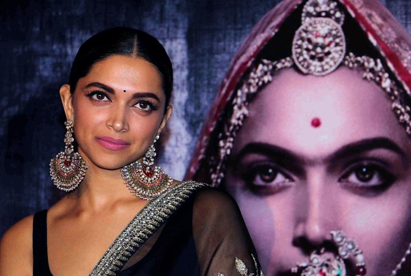 Indian Bollywood actress Deepika Padukone, who has the lead role in the film, has received death threats by those trying to halt the movie's release (AFP Photo/STR)