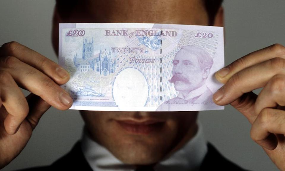On the money... Edward Elgar on the £20 note.