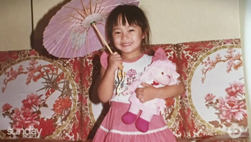 Melissa leong as baby on the Project