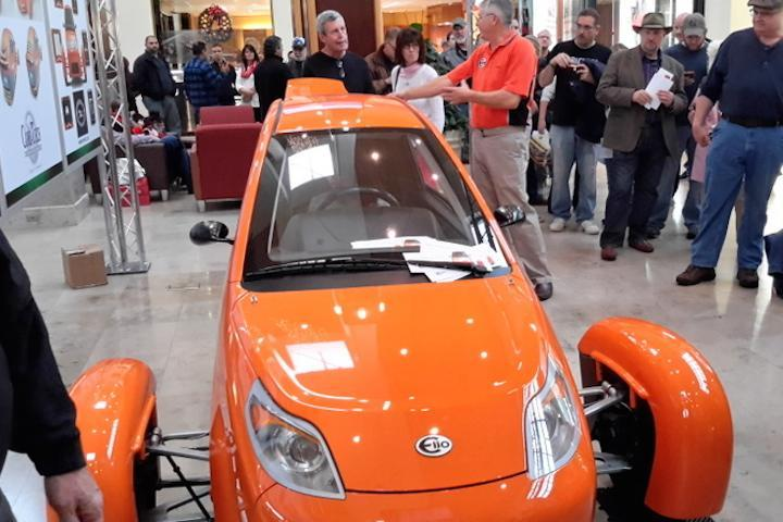 The Elio is the star of the show at the Southpark Mall in Charlotte, NC