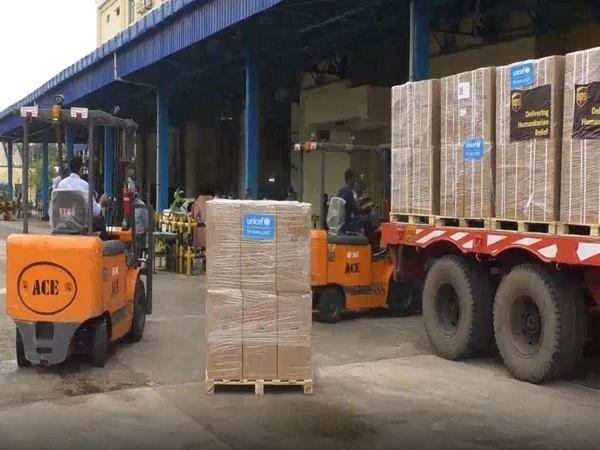 Supplies of oxygen concentrators reaching Kolkata (UNICEF).