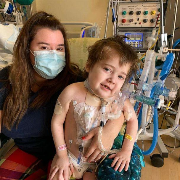 PHOTO: Noah Schneider tested positive for COVID-19 Dec. 30. The 5-year-old was also born with cystic fibrosis. Mom Haley Schneider of Yuba City, California, said Noah is asking people send him stickers and cards for him to play with. (Haley Schneider)