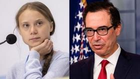 'Doesn't take a degree to realise things don't add up': Greta Thunberg takes on Steven Mnuchin for asking her to study economics