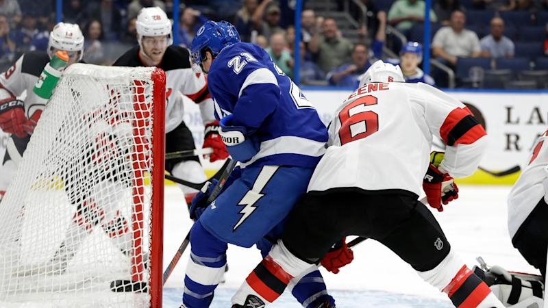reputable site c65a4 4249a Highlights: Tampa Bay Lightning 8, New Jersey Devils 3