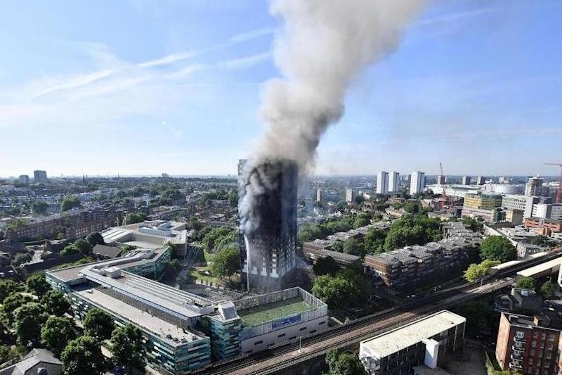 Grenfell: Funding for fire safety measures were pledged after the fire: Getty Images