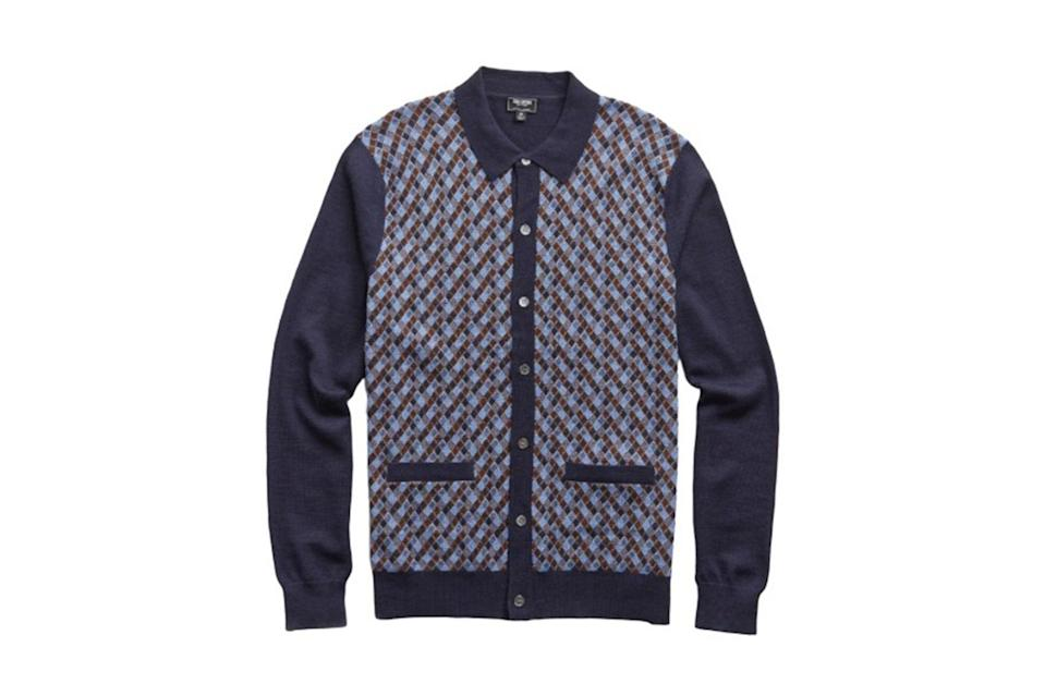 "$248, Todd Snyder. <a href=""https://www.toddsnyder.com/collections/sale/products/ls-merino-argyle-polo-navy"" rel=""nofollow noopener"" target=""_blank"" data-ylk=""slk:Get it now!"" class=""link rapid-noclick-resp"">Get it now!</a>"
