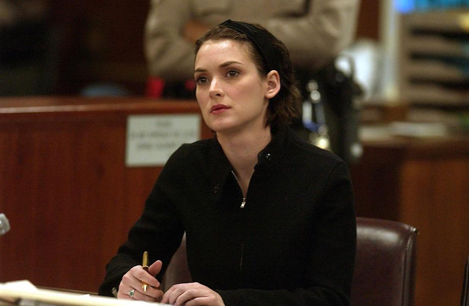 "<p>You know her now for the Christmas light alphabet on <em>Stranger Things</em>, but in 2001, you knew her as the A-lister arrested on shoplifting charges at a Saks Fifth Avenue in Beverly Hills. The <em>Girl, Interrupted </em>and <em>Reality Bites</em> star <a href=""http://people.com/celebrity/winona-ryder-busted-for-shoplifting/"" rel=""nofollow noopener"" target=""_blank"" data-ylk=""slk:was caught"" class=""link rapid-noclick-resp"">was caught</a> ripping the security tags off what turned out to be $5,560 worth of merchandise and placing them in her bag. The following year, she <a href=""http://www.nytimes.com/2002/11/07/us/winona-ryder-convicted-of-2-counts-in-shoplifting.html?mcubz=0"" rel=""nofollow noopener"" target=""_blank"" data-ylk=""slk:was convicted"" class=""link rapid-noclick-resp"">was convicted</a> of grand theft and vandalism for the incident, and <a href=""http://www.cnn.com/2002/LAW/12/06/ryder.sentencing/"" rel=""nofollow noopener"" target=""_blank"" data-ylk=""slk:sentenced"" class=""link rapid-noclick-resp"">sentenced</a> to three years of probation, 480 hours of community service, about $10,000 in fines and restitution, and mandatory psychological and drug counseling.</p>"