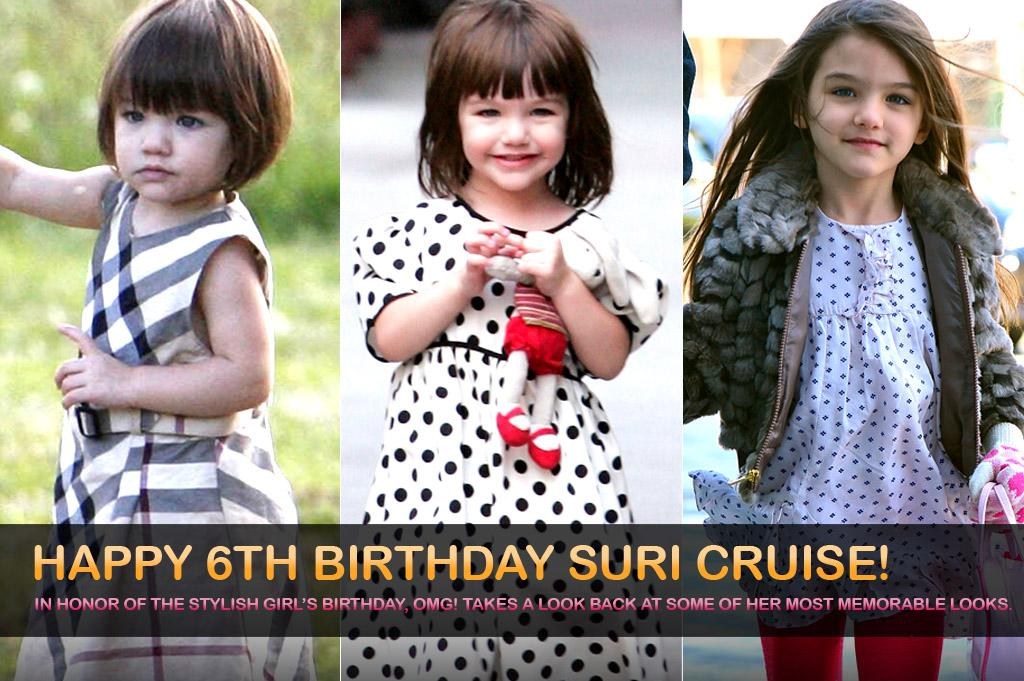 Celebrate Suri Cruise's birthday by looking back at six years of her most stylish moments.