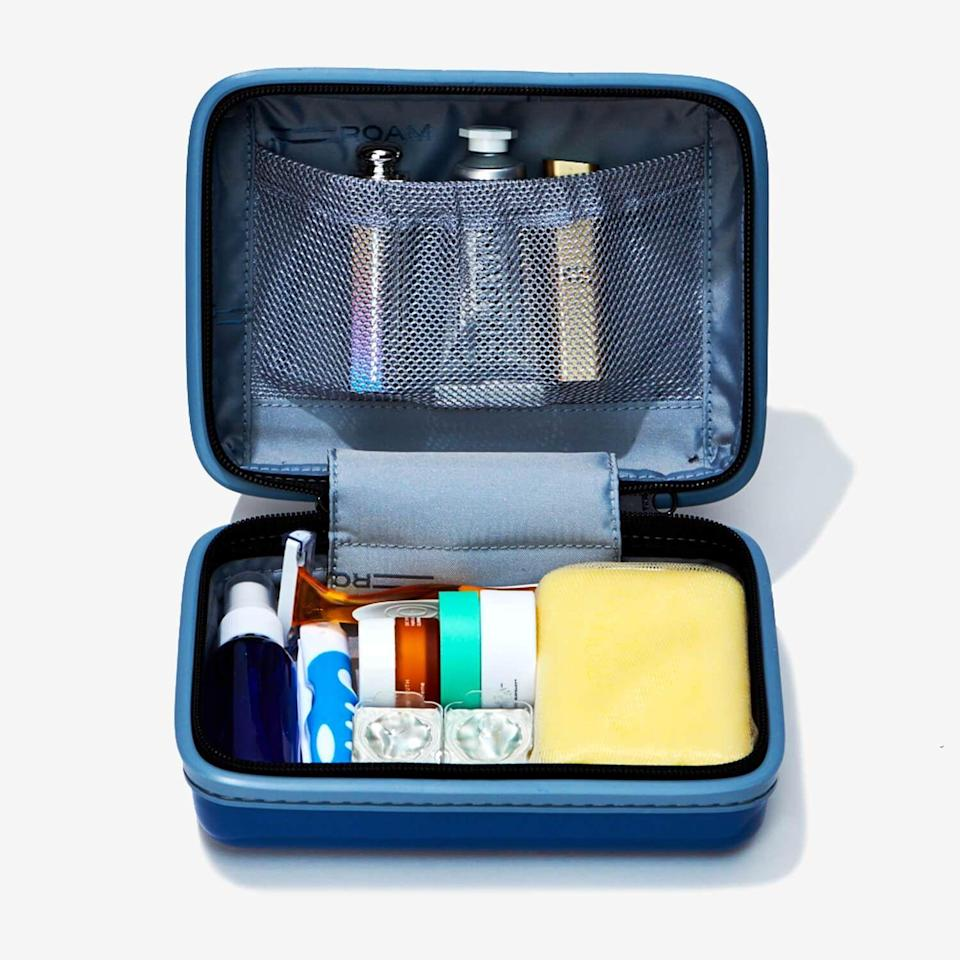 """<p><strong>Travel Kit</strong></p><p>roamluggage.com</p><p><strong>$120.00</strong></p><p><a href=""""https://go.redirectingat.com?id=74968X1596630&url=https%3A%2F%2Froamluggage.com%2Fproducts%2Fthe-roam-kit&sref=https%3A%2F%2Fwww.townandcountrymag.com%2Fstyle%2Fbeauty-products%2Fg19408606%2Fgift-ideas-for-women%2F"""" rel=""""nofollow noopener"""" target=""""_blank"""" data-ylk=""""slk:Shop Now"""" class=""""link rapid-noclick-resp"""">Shop Now</a></p><p>This sturdy case by Roam protects her travel skincare essentials from getting squished or broken en route.</p>"""