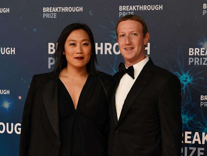 Mark Zuckerberg and his wife, Priscilla Chan, attend the Breakthrough Prize awards in Mountain View, California, in November. The couple has defended Facebook's refusal to ban or fact-check political ads. (Photo: Kate Munsch/Reuters)