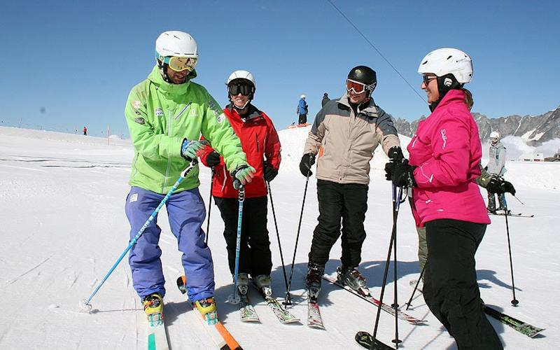 The Warren Smith Ski Academy puts on early season courses in Cervinia, Italy