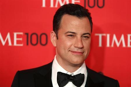 Television host Jimmy Kimmel arrives for the Time 100 gala celebrating the magazine's naming of the 100 most influential people in the world for the past year, in New York