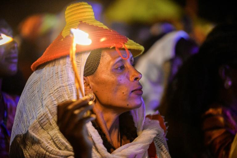 The celebrations in Tigray have highlighted tensions with the government in Addis Ababa (AFP Photo/MICHAEL TEWELDE)