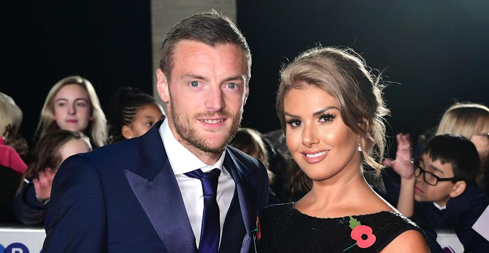 Rebekah with husband James Vardy in 2017. (PA Images)