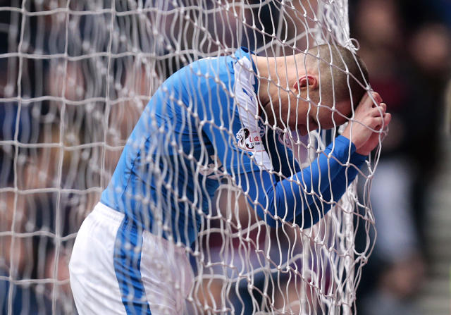 Football Soccer - Rangers v St Mirren - Ladbrokes Scottish Championship - Ibrox - 27/2/16 Rangers' Kenny Miller looks dejected after missing a chance to score Mandatory Credit: Action Images / Graham Stuart Livepic EDITORIAL USE ONLY.