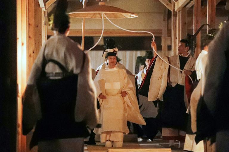 The Daijosai, considered the most important ritual for Japan's imperial household, came three weeks after Naruhito proclaimed his ascension to the Chrysanthemum Throne and is performed only once in an emperor's reign