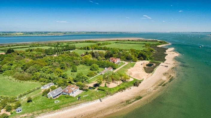An aerial view of the celebrity bolthole [Photo: Osea Island]