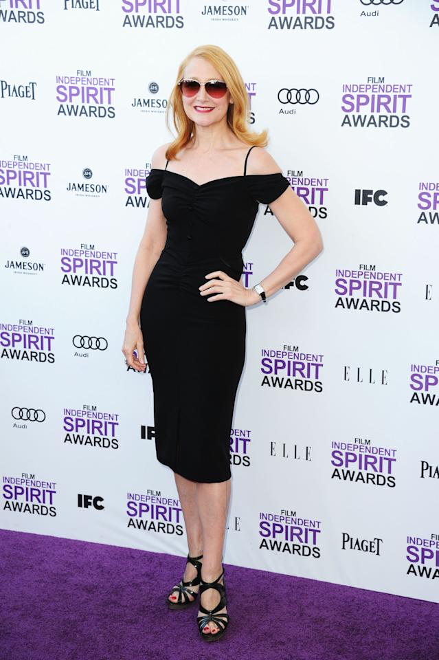 SANTA MONICA, CA - FEBRUARY 25:  Actress Patricia Clarkson arrives at the 2012 Film Independent Spirit Awards on February 25, 2012 in Santa Monica, California.  (Photo by Alberto E. Rodriguez/Getty Images)