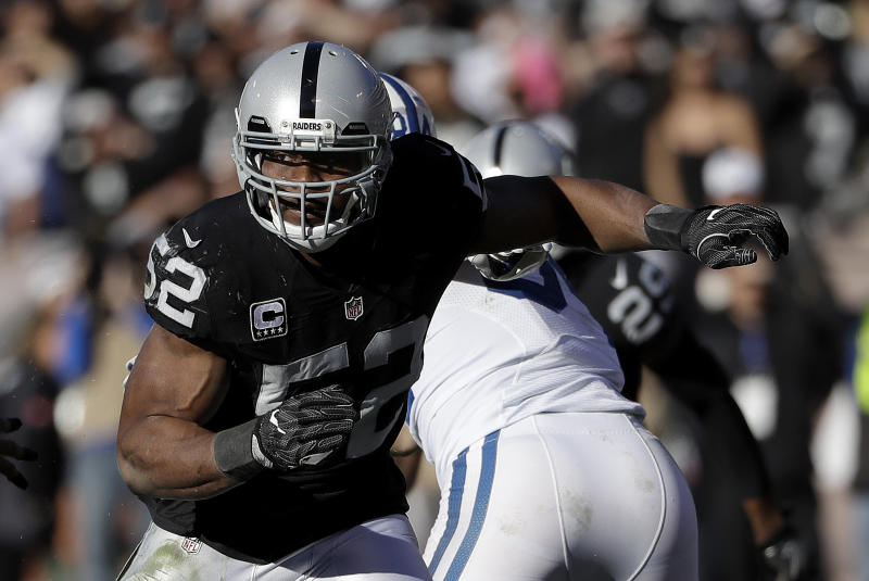 The Bears acquired Khalil Mack in a massive trade with the Raiders. (AP)