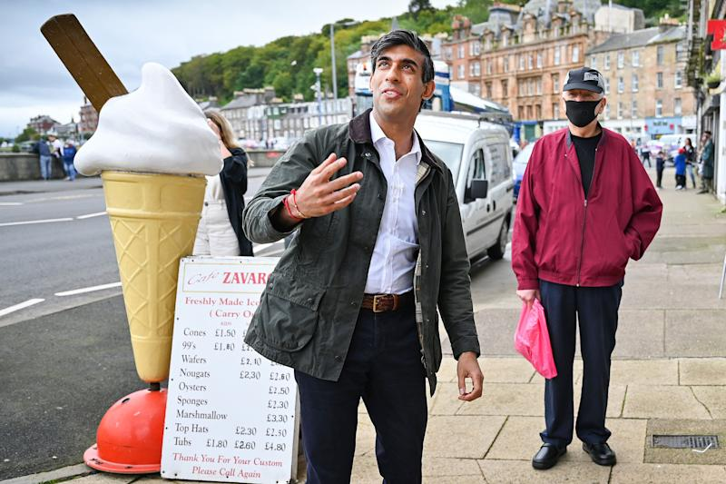 Chancellor of the Exchequer Rishi Sunak during a visit to Rothesay on the Isle of Bute, Scotland. (Photo: PA)