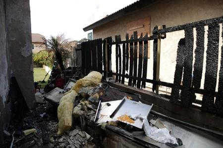 A suburban home that was the site of a hash oil extraction laboratory explosion is seen in the Mira Mesa area of San Diego