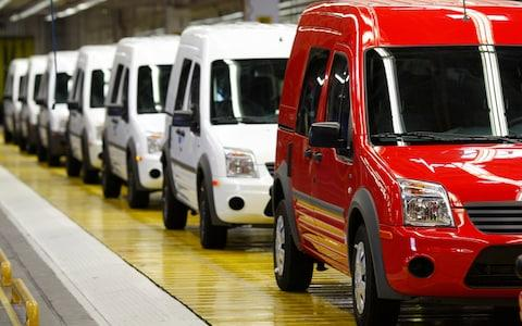 Ford's Transit Connect vans roll off the production line - Credit: Reuters