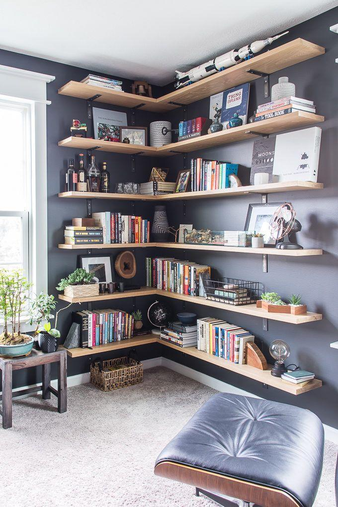 """<p>Keep your desk space clutter-free and store books, paperwork, and storage boxes on wooden shelves. </p><p><em><a href=""""https://www.keystoinspiration.com/home-tour-office/"""" rel=""""nofollow noopener"""" target=""""_blank"""" data-ylk=""""slk:See more at Keys to Inspiration »"""" class=""""link rapid-noclick-resp"""">See more at Keys to Inspiration »</a></em></p>"""