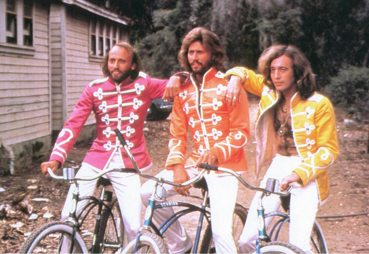 "The Bee Gees in ""Sgt. Pepper's Lonely Hearts Club Band""  When you think of the great narrative operas of our time, you think of the Beatles' Sgt. Pepper. Actually, you don't—the Fab Four's 1967 masterwork was as loosely defined as concept albums get, if it even qualified as that. But that didn't stop someone from thinking a movie version was a swell idea, with the unrelated songs somehow telling such a fabulous story that additional dialogue wasn't even necessary. For the Bee Gees, who'd spent a lot of their career being compared to the Beatles, stepping into those iconic uniforms couldn't have been a more terrible idea. ""As for the Bee Gees' acting talents,"" wrote Leonard Maltin, ""if you can't say something nice..."" Having Peter Frampton as the fourth Bee Gee didn't help, nor did incongruous appearances by Aerosmith, Steve Martin, and Billy Preston. Said the New York Times, ""The movie may have been conceived in a spirit of merriment, but watching it feels like playing shuffleboard at the absolute insistence of a bossy shipboard social director… This isn't a movie, it's a business deal set to music."""