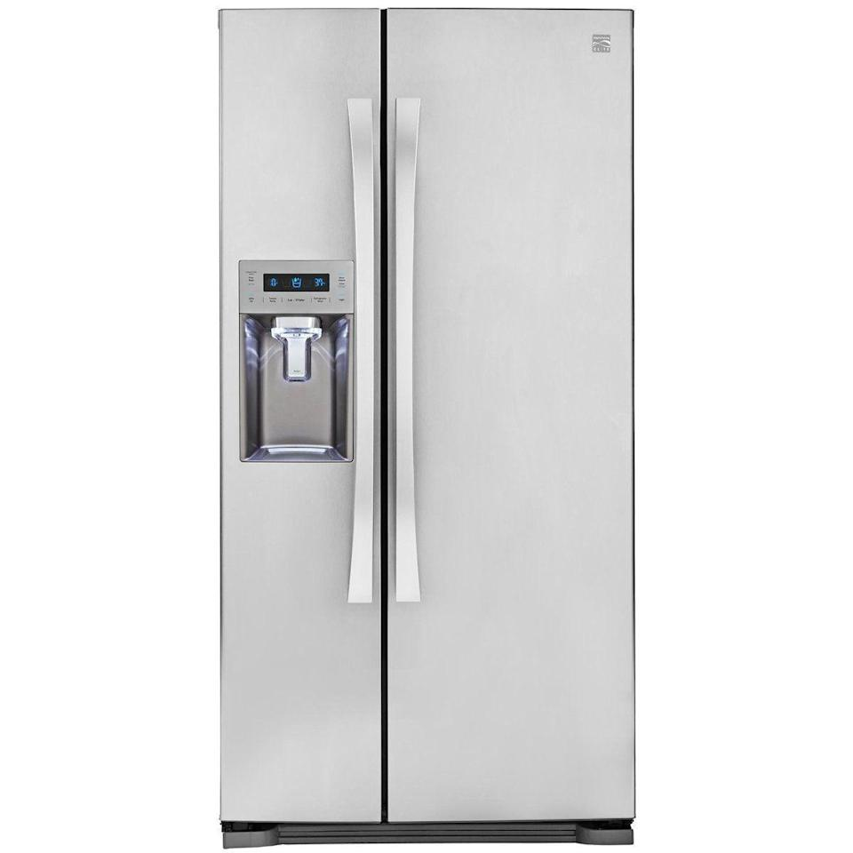 """<p>Amazon's selection of big machines (like fridges and dishwashers) is — well, how do we put this nicely — weak. Many of the ones that are available are sold through third-party retailers (read: you're going to pay a<em> lot</em> in shipping), or they're cheaper on competitors' sites. May we present you with this GE refrigerator <a href=""""https://www.amazon.com/dp/B01ACOOG26/ref=sspa_dk_detail_3?"""" rel=""""nofollow noopener"""" target=""""_blank"""" data-ylk=""""slk:(Amazon)"""" class=""""link rapid-noclick-resp"""">(Amazon)</a> v. <a href=""""https://www.lowes.com/pd/GE-21-9-cu-ft-Counter-depth-Side-by-Side-Refrigerator-with-Ice-Maker-Fingerprint-Resistant-Stainless-Steel/1000842434?cm_mmc=shp-_-c-_-prd-_-app-_-google-_-lia-_-118-_-refrigerators-_-1000842434-_-0&placeholder=null&ds_rl=1286890&gclid=Cj0KCQjwi7yCBhDJARIsAMWFScM82WxRexpIay1bcv8Oe-nYTGeo_zP6TmU4067C7LIKeHngtk-r41saAhtYEALw_wcB&gclsrc=aw.ds"""" rel=""""nofollow noopener"""" target=""""_blank"""" data-ylk=""""slk:GE refrigerator (Lowe's)"""" class=""""link rapid-noclick-resp"""">GE refrigerator (Lowe's)</a> argument as proof.</p>"""