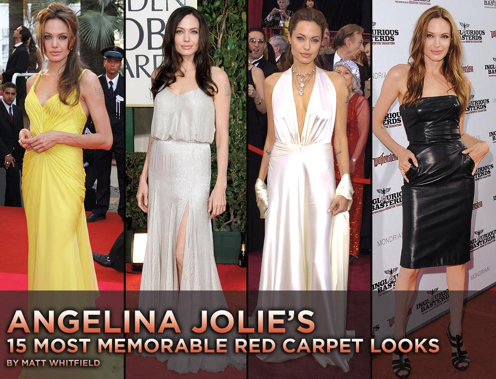 """Before she became a bona fide big-screen star, Angelina Jolie was known for the edgy ensembles she wore to movie premieres. As the natural beauty has matured, so has her sense of style. Before you head to the theater this weekend to see her in <a href=""""http://movies.yahoo.com/movie/1810072508/info"""">Salt</a>, take a look at the A-lister's 15 most memorable red carpet looks."""