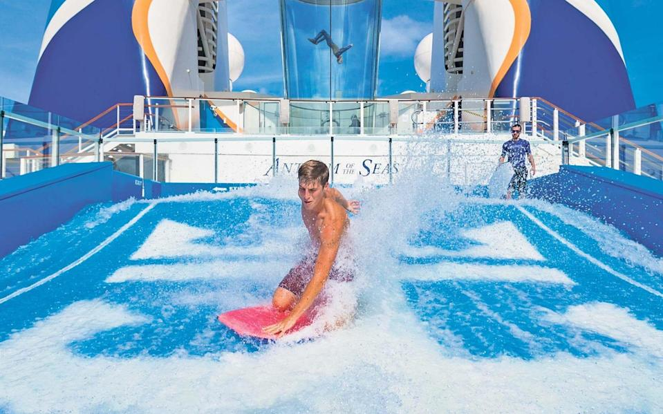 You can make a splash without leaving the deck on Anthem of the Seas