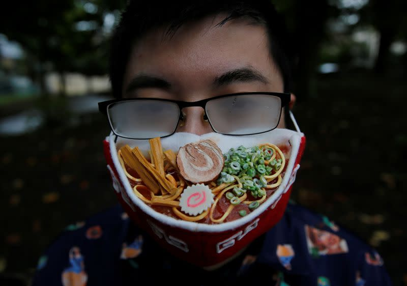 Japanese artist creates ramen face mask to complement fogged glasses