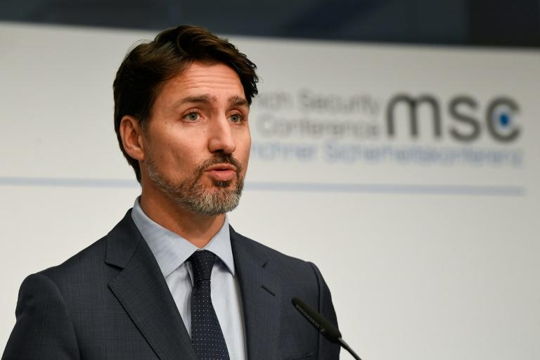 Prime Minister Justin Trudeau, seen here on February 17 at a security conference in Munich, cut short his overseas trip to return home and try to negotiate an end to indigenous protests crippling rail transportation (AFP Photo/Thomas KIENZLE)