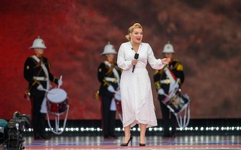 <span>Sheridan Smith performs We'll Meet Again</span> <span>Credit: Paul Grover for The Telegraph </span>