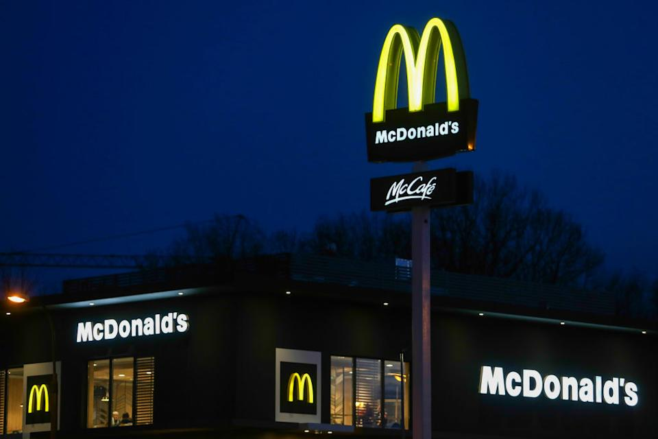 A McDonald's restaurant is pictured.
