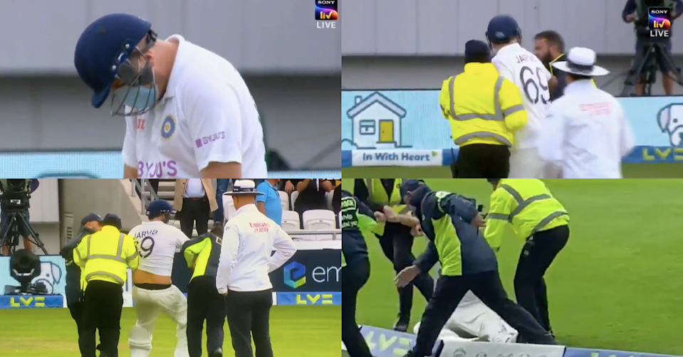 """Watch: """"Jarvo 69"""" Breaches Headingley Pitch Disguised As Indian Batsman, Gets Kicked Out By Security"""