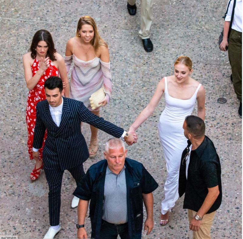 Sophie Turner Wore a Simple But Elegant Bridal Dress to Her and Joe Jonas' Pre-Wedding Party