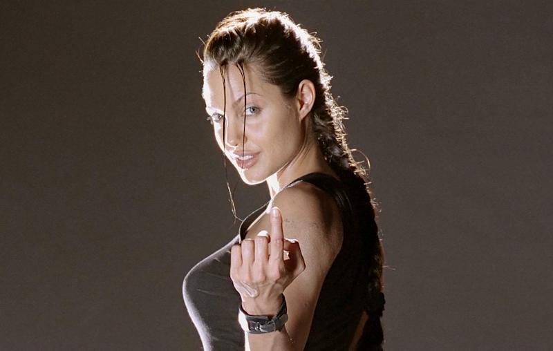 Angelina Jolie in 2001's 'Lara Croft: Tomb Raider' (credit: Paramount Pictures)