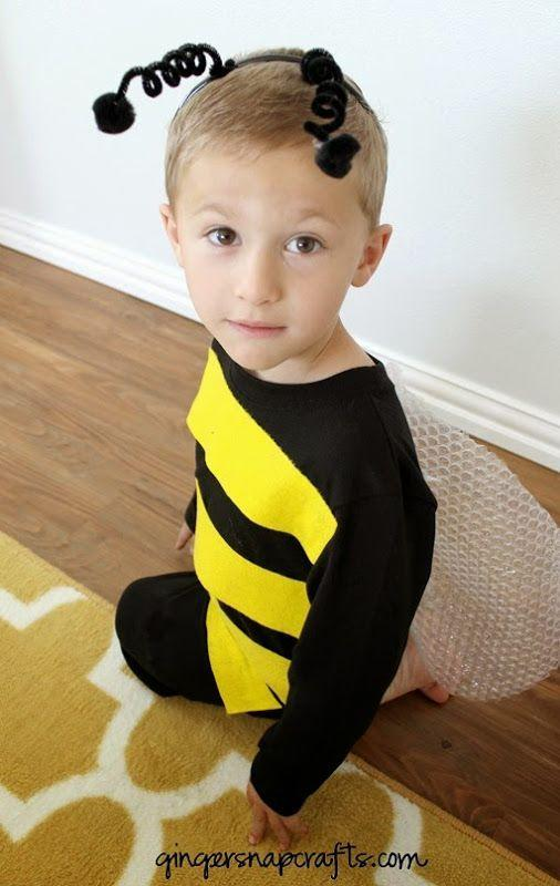 """<p>Your little one will draw plenty of buzz with this sweet bumblebee costume, which requires just a few household staples like bubblewrap and felt.</p><p><strong>Get the full tutorial at <a href=""""https://www.gingersnapcrafts.com/2014/09/no-sew-bee-costume-tutorial.html"""" rel=""""nofollow noopener"""" target=""""_blank"""" data-ylk=""""slk:Ginger Snap Crafts"""" class=""""link rapid-noclick-resp"""">Ginger Snap Crafts</a>.</strong></p><p><a class=""""link rapid-noclick-resp"""" href=""""https://www.amazon.com/Acrylic-Felt-Sheet-12-Yellow/dp/B004ZXXIR0/ref=sr_1_5?dchild=1&keywords=yellow+felt&qid=1596035386&sr=8-5&tag=syn-yahoo-20&ascsubtag=%5Bartid%7C10050.g.4975%5Bsrc%7Cyahoo-us"""" rel=""""nofollow noopener"""" target=""""_blank"""" data-ylk=""""slk:SHOP YELLOW FELT"""">SHOP YELLOW FELT </a></p>"""